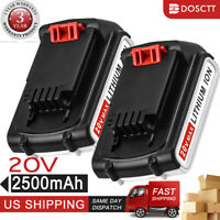 2.5Ah 20V For Black&Decker MAX Lithium Battery LBXR20 LBXR20-OPE LB20 LBX20 2PCS