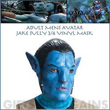 AVATAR MASK JAKE SULLY 3/4 NA'VI VINYL HALLOWEEN ADULT MOVIE COSTUME LICENSED