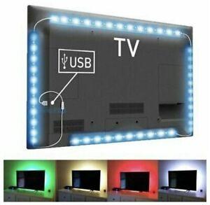 🔥🔥🔥Led Light Strip TV Backlight 2M (6.5ft) RGB 5V Ambient light USB Powered