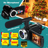 "Full HD 1080P 24MP 3"" TFT LCD Digital Camcorder Video Camera 18X Zoom Microphone"