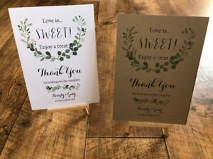 A4/A5 WEDDING SIGN - PERSONALISED - LOVE IS SWEET - CANDY BAR 06