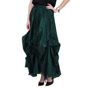 Dark Star Skirt Ruched Green