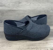 Dansko Vegan Gray Textile Professional Clogs Women's Size EU 39 US 8.5-9