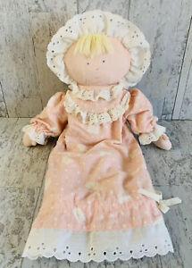 Eden Lanz of Salzburg Doll Plush Blonde Stuffed Flannel Pink Nightgown Dress