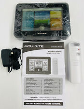 AcuRite Weather Station Indoor Outdoor Sensor Temperature, Humidity 02077M Black