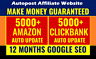 Auto Posting Amazon Affiliate and Clickbank Affiliate Website Make Money Online