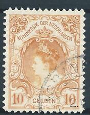 1899 Nederland Koningin Wilhelmina NR.80 gestempeld/VFU Luxe Zegel.