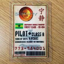 Serenity/Firefly ID Badge-Pilot Cosplay prop costume