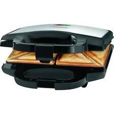 Bomann ST 1372 - Sandwichera para 2 sandwiches, antiadherente, acero inox. 750 W