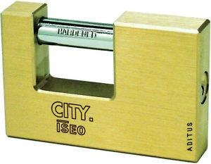 1 pz lucchetto corazzato City by Iseo catenaccio 50 mm lucchetti serranda