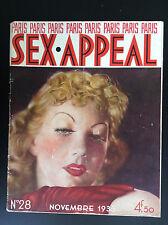 Rare Revue magazine Paris Sex Appeal N° 28 1935  NU Erotisme  BON ETAT