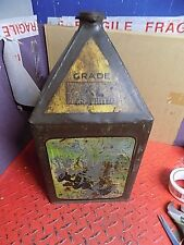 RARE GAMAGES COLLECTABLE OIL/PETROL AUTOMOBILIA TRANSPORT GARAGE CAN