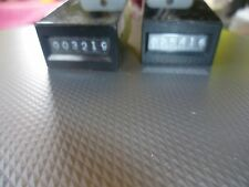 FOUR coin meters  12 volts dc working