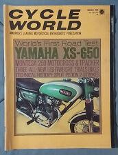 1970 MARCH CYCLE WORLD MAGAZINE YAMAHA XS-650 MONTESA MOTO X DIRT MOTORCYCLE