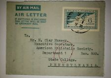O) 1950 MYANMAR  - BURNA, MYTHICAL BIRD . POSTAGE 6a - AIRMAIL LETTER, TO PENNSY