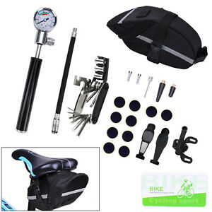 26 in 1 Bicycle MTB Repair Tools Kit Set Mountain Bike Cycle Puncture Tyre Pump