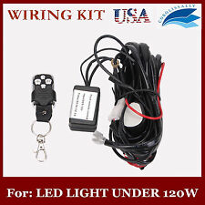 Remote Control Wiring Harness Kit Strobe Switch Relay Led Light Bar 120W 2M CORO