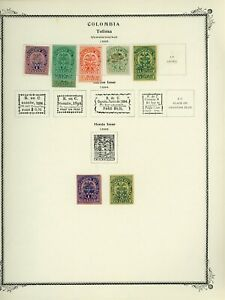 COLOMBIA STATES - TOLIMA Scott Specialty Album Page Lot #13 - SEE SCAN - $$$