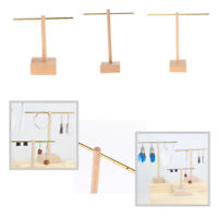 Chic T-Bar Wood Jewelry Display Stand Earrings Hanging Rack for Shop Counter