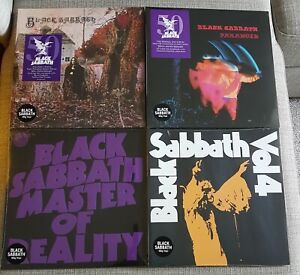 BLACK SABBATH-COLLECTION OF 4 x BRAND NEW LP's-VOL:4,DEBUT,PARANOID & MASTERS
