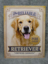 Reliable Golden Retriever Dog Tin Metal Sign Decor NEW Cute