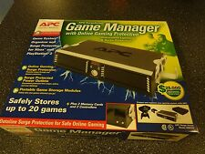 APC Game Manager- 20 Game Organizer + Surge Protection Xbox/PS2. NIB- Rare!