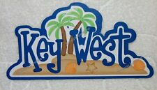 DISNEY TRAVEL DESTINATION KEY WEST Die Cut Title Scrapbook Paper Piece SSFFDeb