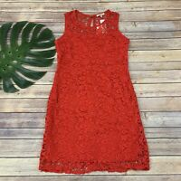 Skies Are Blue Stitch Fix Lexee Lace Dress Size M New Red Sleeveless Sheath