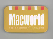 Vintage APPLE Macworld MACINTOSH MAGAZINE Pinback PIN Button BADGE Advertising