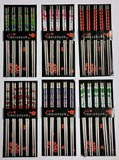 60 Stainless Steel Chopsticks Chop Sticks Beautiful Gift Set 6 Prints (30 Pairs)