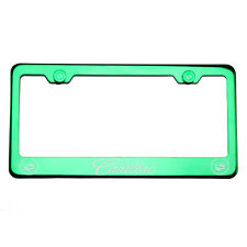 T304 Green Chrome License Frame Stainless Steel Silver New Cadillac Laser Etched