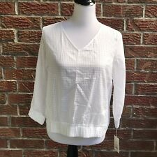 A NEW DAY Target White size XS top checkered NWT