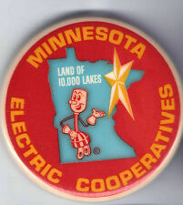 Vintage ELECTRICITY pin Minnesota Electric Cooperatives pinback