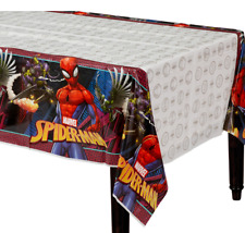 Spider Man Webbed Wonder Plastic Table Cover ~ Boys Birthday Party Decoration