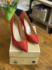 $130 MICHAEL KORS Keke Patent Leather Mid Pump Red Scarlet US 8