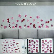 30 x Pegatina pared se levantó en la SET Decoración Floral Tatuaje de Adhesivo