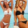 Damen Push-up Gepolsterter Bh Bandage Bikini Set Badeanzug Dreieck Bademode
