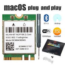 macOS Plug & Play Hackintosh WiFi BCM94360NG NGFF Network Card BT4.0 PC Windows