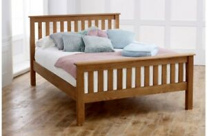 Beautifully Crafted Oak High End Bed Frame 4ft6 Double 5ft King Mattress Options