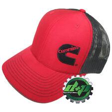 Dodge Cummins trucker hat ball mesh richardson red w/ black snap back cummings