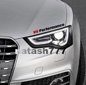 V6 Performance Vinyl Decal Sticker Motorsport emblem logo sport racing Car Truck
