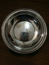 Vintage Irvin Ware 2160 Metal Silver Chrome Round Candy Nut Dish