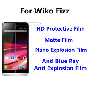 3pcs For Wiko Fizz High Clear/Nano Explosion/Anti Blue Ray Screen Protector