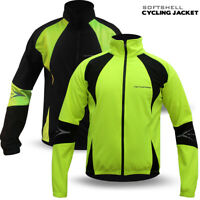 Mens Cycling Jacket Winter Thermal Softshell Fleece Windproof Long Sleeve NEW