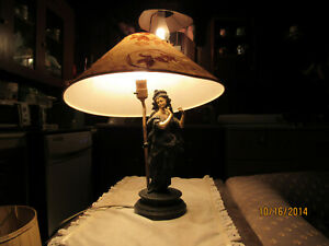 Beautiful Victorian Lamp With old shade could be left behind To Save On Shipping