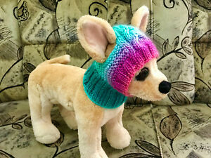 Pet Clothes Multicored Hat Hand Knit Snow-Hat for Small Dog  XXS XS S sizes