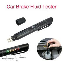 Brake Fluid Tester LED Moisture Water Compact Tool DOT3 4 Test Indicator Pen U0
