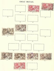 GB-George V-Collection on Windsor Pages to 5/- Identified by SG Nos.-Mint/Used