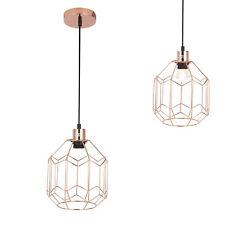 [lux.pro] Lámpara Colgante Cobre 21 , 5cmx Ø20CM de Techo Luz Canasto