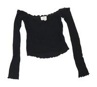 Pins & Needles Womens Size XS Black Off The Shoulder Top (Regular)